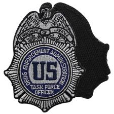 US DEA blackout embroidered Federal Agency Drug Enforcement brassard patch